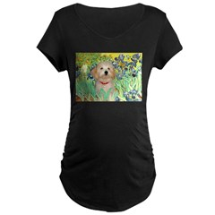 Irises / Havanese Maternity Dark T-Shirt