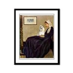 Whistler's / Havanese Framed Panel Print