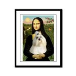 Mona / Havanese Framed Panel Print