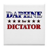 DAPHNE for dictator Tile Coaster