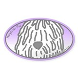 Anime White Puli Oval Decal