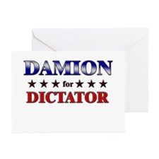 DAMION for dictator Greeting Cards (Pk of 20)