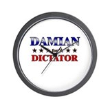 DAMIAN for dictator Wall Clock