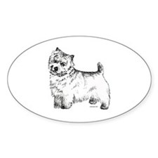 Norwich Terrier Oval Decal
