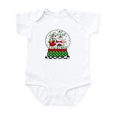 Snowglobe Santa Baby 1st Xmas Infant Bodysuit