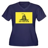 Gadsden Flag Women's Plus Size V-Neck Dark T-Shirt
