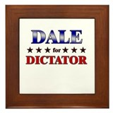 DALE for dictator Framed Tile