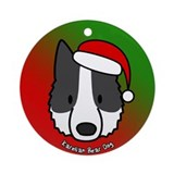 Karelian bear dog christmas Round Ornaments
