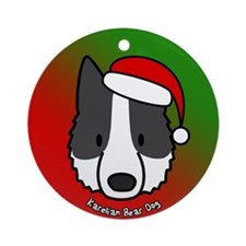 Cartoon Karelian Bear Dog Christmas Ornament