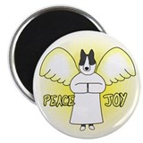 Peace Joy Karelian Bear Dog Christmas Magnet