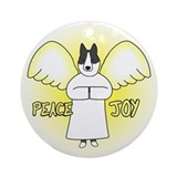 Peace Joy Karelian Bear Dog Christmas Ornament
