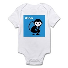 iPoo Monkey Infant Bodysuit