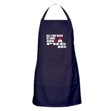 RED BLUE BASEBALLS AND HITTER BBQ Apron