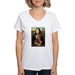 Mona /Irish Setter Women's V-Neck T-Shirt