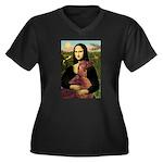 Mona /Irish Setter Women's Plus Size V-Neck Dark T