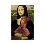 Mona /Irish Setter Rectangle Magnet