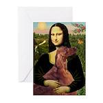 Mona /Irish Setter Greeting Cards (Pk of 20)