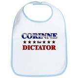 CORINNE for dictator Bib