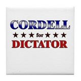 CORDELL for dictator Tile Coaster