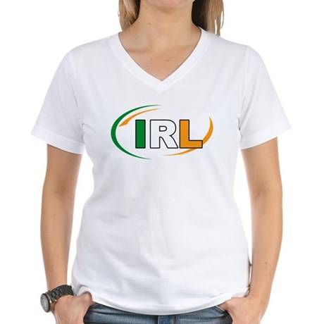 Country Code Ireland Women's V-Neck T-Shirt