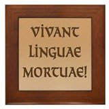 Long Live Dead Languages! Framed Tile