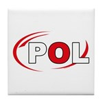 Country Code Poland Tile Coaster