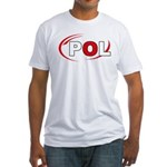 Country Code Poland Fitted T-Shirt