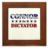 CONNOR for dictator Framed Tile