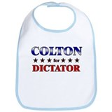 COLTON for dictator Bib