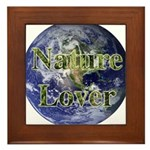 Nature Lover Earth Framed Tile