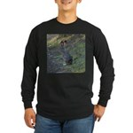 Black Tailed Jackrabbit Long Sleeve Dark T-Shirt