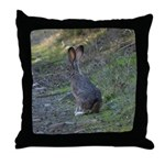 Black Tailed Jackrabbit Throw Pillow