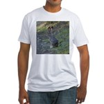 Black Tailed Jackrabbit Fitted T-Shirt