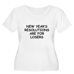 New Year's Loser Women's Plus Size Scoop Neck T-Sh