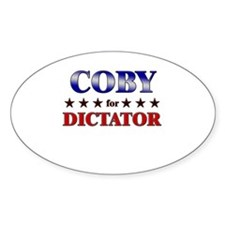 COBY for dictator Oval Decal