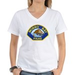 Morro Bay Police Women's V-Neck T-Shirt