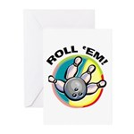 Roll 'Em Bowling Greeting Cards (Pk of 20)