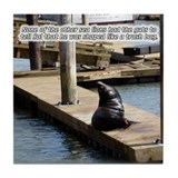 Sal the Sea Lion Tile Coaster