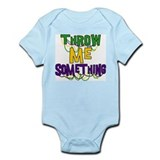 Mardi Gras Throw Me Something Onesie