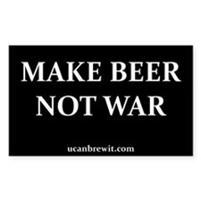 MAKE BEER NOT WAR - Rectangle Decal