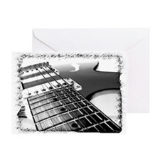 Electric Guitar 1 Negative Greeting Card