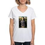 Mona / Irish Wolf Women's V-Neck T-Shirt