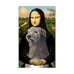 Mona / Irish Wolf Sticker (Rectangle)