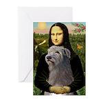 Mona / Irish Wolf Greeting Cards (Pk of 10)