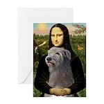 Mona / Irish Wolf Greeting Card