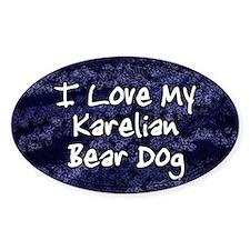 Funky Love Karelian Bear Dog Oval Decal