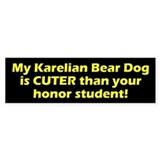 Cuter Karelian Bear Dog Bumper Car Sticker