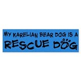 Rescue Dog Karelian Bear Dog Bumper Car Sticker