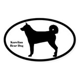 Karelian Bear Dog Silhouette Decal
