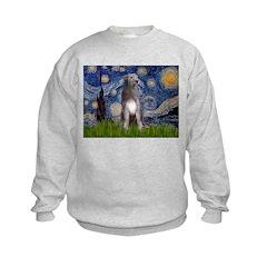 Starry/Irish Wolfhound Kids Sweatshirt